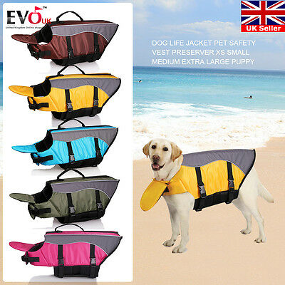 Puppy Dog Life Jacket Pet Safety Vest Preserver Xs Small Medium Extra Large