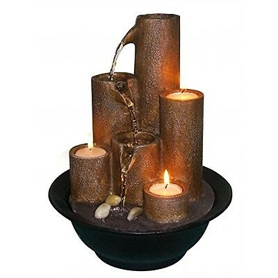 Water Fountain Indoor Tabletop Office Candles Spa Patio Relaxation Outdoor Relax