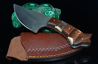 """6.25"""" hand made Skinner Stainless Steel blade Stag & wood Handle hunting Knife"""