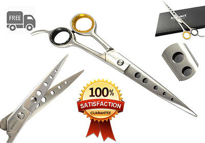 "8.5"" New Professional Pet Grooming Scissor Shears Extra Longer Length Free Case"