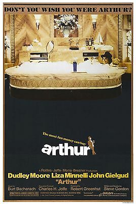 """Arthur""...Dudley Moore Liza Minelli..Classic Comedy Movie Poster  A1A2A3A4Sizes"