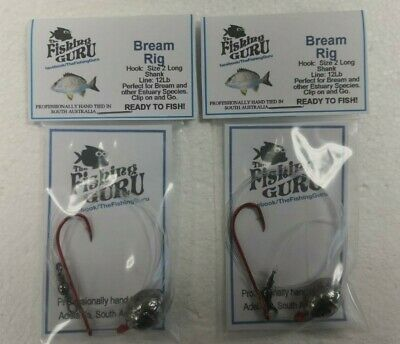 "2X Bream Rigs - With Mustad Size #2 Bloodworm Hook MADE in SA ""The Fishing Guru"""