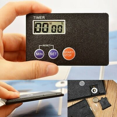 Mini Digital Credit Card Size Timer Kitchen Cooking Countdown Clock Pocket