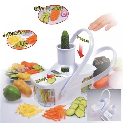 Good Ideas EZ Slice Kitchen Food Slicer Julienne Chopper Vegetable Fruit Grater