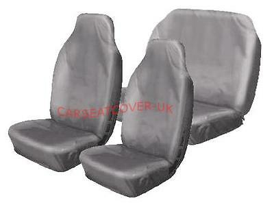 Audi S3 Cabriolet  - Heavy Duty Grey Waterproof Car Seat Covers - Full Set