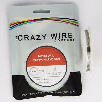 0.25mm (30 AWG) Comp Ni200 (Tempered 99.6% Nickel) Wire - 1.96 ohms/m
