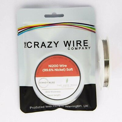 0.3mm (29 AWG) Comp Ni200 (Tempered 99.6% Nickel) Wire - 1.36 ohms/m
