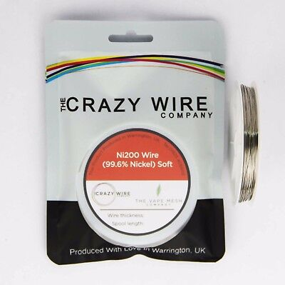 0.4mm (26 AWG) Comp Ni200 (Tempered 99.6% Nickel) Wire - 0.76 ohms/m