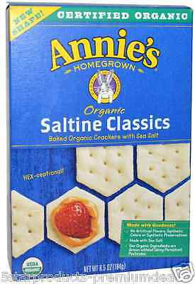 New Annie's Homegrown Organic Saltine Classics Baked Organic Crackers Daily Care