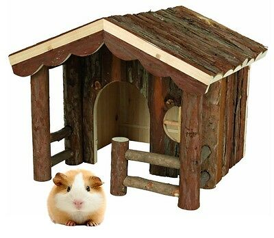 Trixie Knut Natural Wooden  House Bed For Guinea Pig Rat Chinchilla Degu 61981
