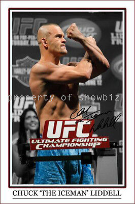 * Chuck Liddell, Large Signed Autograph Photo, Looks Great On The Wall!!!!!