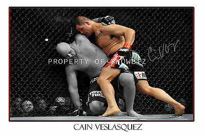 * Cain Velasquez, Large Signed Autograph Poster, Looks Great On The Wall!!!!!