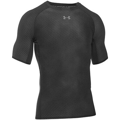 Under Armour Heatgear Compression Impreso Manga Corta Camiseta black 1257477-006