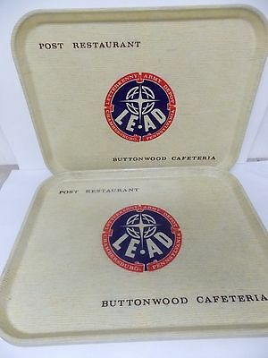 Letterkenny Army Depot Buttonwood Cafeteria Post Restaurant Trays s/4 Camtray