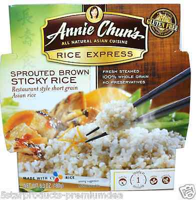 New Annie Chun's Rice Express Sprouted Brown Sticky Low Fat Vegan Vegetarian