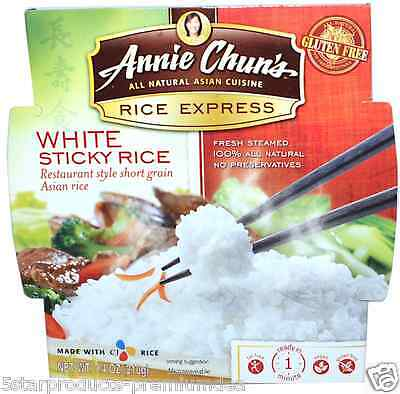 NEW ANNIE CHUN'S RICE EXPRESS WHITE STICKY LOW FAT FREE VEGAN VEGETARIAN 210 g