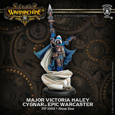 Warmachine: Cygnar Major Victoria Haley Epic Warcaster PIP 31033