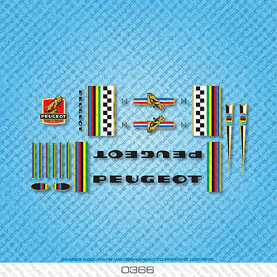 Peugeot Bicycle Decals - Transfers - Stickers - Set 366