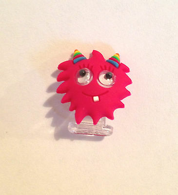 Claires Mobile Phone Jack Anti Dust Plug Charm 3.5mm - Pink Googly Eyed Monster