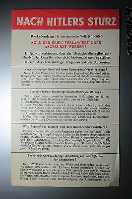 ww2 Psywar RAF british leaflet G39 ¨nach hitlers sturz´ ¨after hitlers death¨