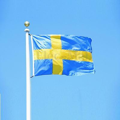 3x5FT Large Sweden Swedish Flag Polyester National Banner With Mental Grommets