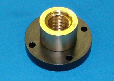 "304070 932 bronze nut with steel flange for 1""-5 acme RH precision lead screw"