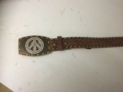 Ariat Peace Buckle with Carved Leather Belt