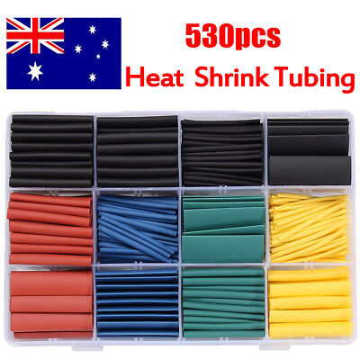 530Pcs Halogen-Free 2:1 Heat Shrink Tubing Wire Cable Sleeving Wrap Wire Kit