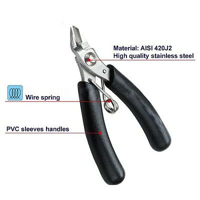 Wire Cable Cutter Side Snips Flush Pliers Tools Electrical Micro Cutting Pliers