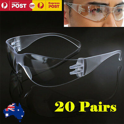 Clear Safety Goggles Vented Glasses Eye Protection Protective Lab Anti Fog Dust