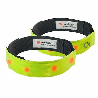 NEW Time to Run 2x Reflective Flashing LED Running Cycling Armbands Strap