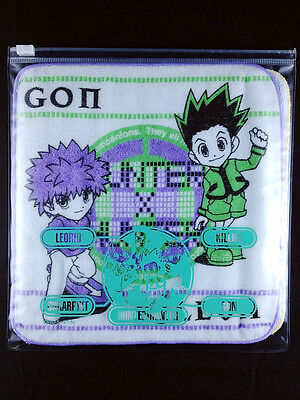 Hunter x Hunter Mini Towel & Case set Movic Gon Killua Leorio Kurapika Rare