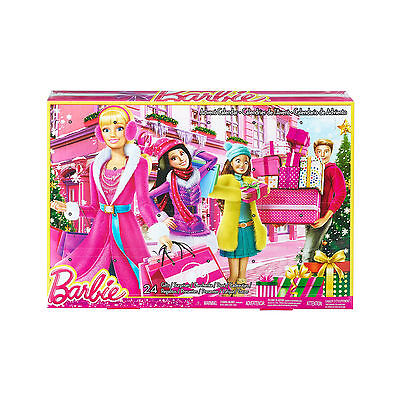 Barbie Girls Advent Calendar Christmas Countdown 24 Windows Fashion Accessories