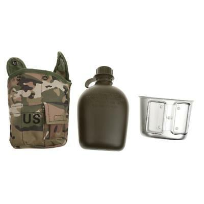 1L Army Military Canteen Hydration Water Bottle Outdoor Camping Hiking Sport