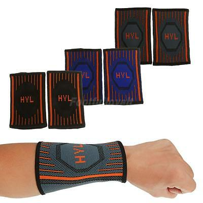 Breathable Compression Wrist Sweat Band Sports Basketball Tennis Workout Running
