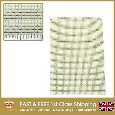 3 PACK = A4 210 x 300mm x 3 0.63mm Wire Heavy #8 Pure Brass Mesh