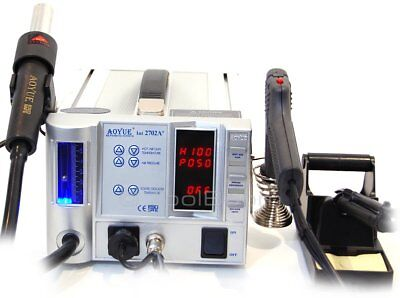 AOYUE 2702A+ Lead-Free Hot Air Soldering Station Desoldering Gun ESD Safe (220V)