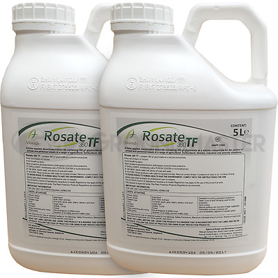Rosate 360 TF 2 x 5 Litre Strong Glyphosate Professional Garden Weedkiller