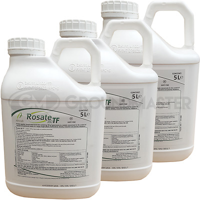 Rosate 360 TF 3 x 5 Litre Strong Glyphosate Professional Garden Weedkiller