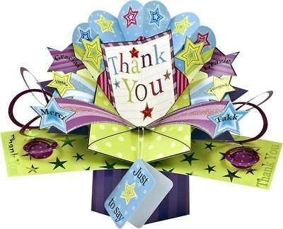Thank You 3D Pop Up Card New Gift
