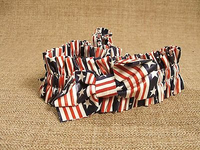 1998 Longaberger Stars & Stripes X-Large Fabric Garter with Bow