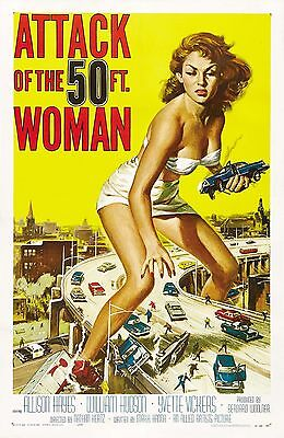 """""""ATTACK OF THE 50ft WOMAN""""..Allison Hayes..Vintage Movie Poster2 A1A2A3A4Sizes"""