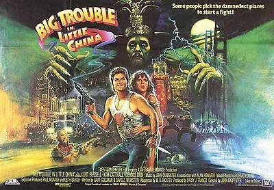 """Big Trouble In Little China"" ..Kurt Russell..Classic Movie Poster A1A2A3A4Sizes"