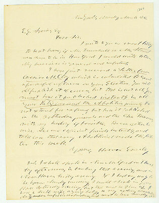 Horace Greeley on Publication of a Letter by Abolitionist Cassius Clay