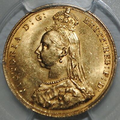 1887 Great Britain Gold Sovereign PCGS MS62 Jubilee Head UK Coin BU Uncirculated
