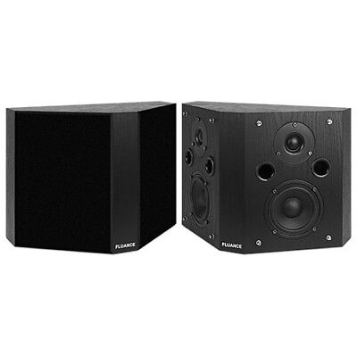 Fluance SXBP-BK High Definition Bipolar Surround Sound Speakers