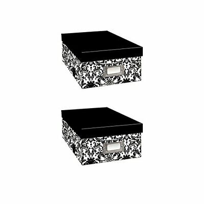 Pioneer Black & White Photo Storage Box-Six Assorted Designs - Two Pack