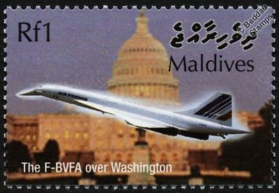 Air France CONCORDE F-BVFA (Washington DC) Supersonic Airliner Aircraft Stamp