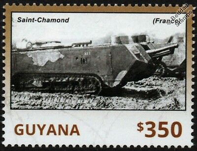 WWI France / French SAINT-CHAMOND Heavy Tank Stamp