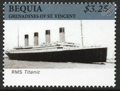 RMS TITANIC White Star Line Ocean Liner / Passenger Cruise Ship Stamp (Bequia)